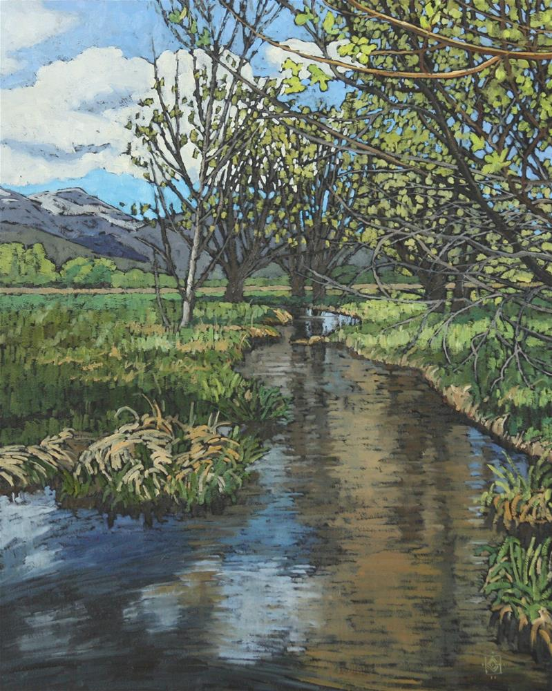 """Spring in the Heber Valley - 2"" original fine art by Carol Granger"
