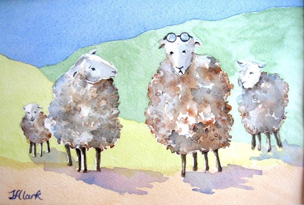 """They're Here Somewhere..."" original fine art by Judith Freeman Clark"