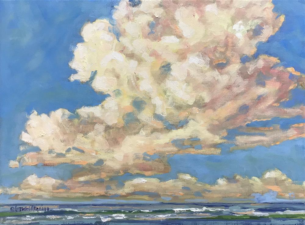 """""""Warm Clouds"""" original fine art by Linda Blondheim"""