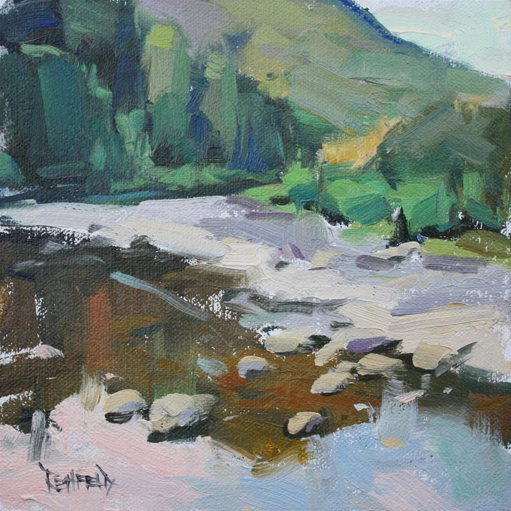 """Klickitat River"" original fine art by Cathleen Rehfeld"