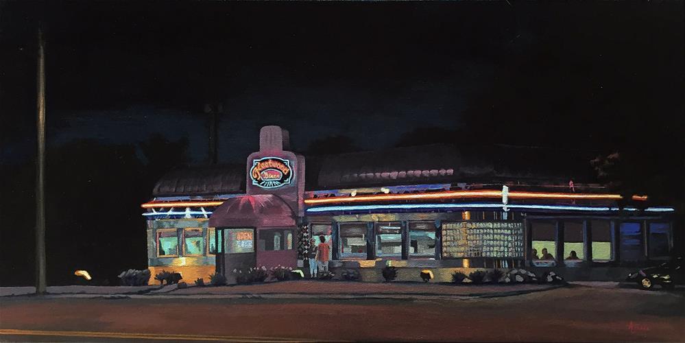 """Fleetwood Diner"" original fine art by Andrea Jeris"