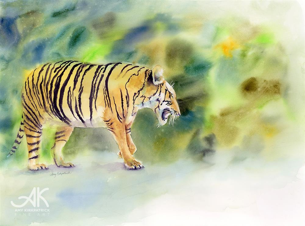 """TIGER #0225"" original fine art by Amy Kirkpatrick"