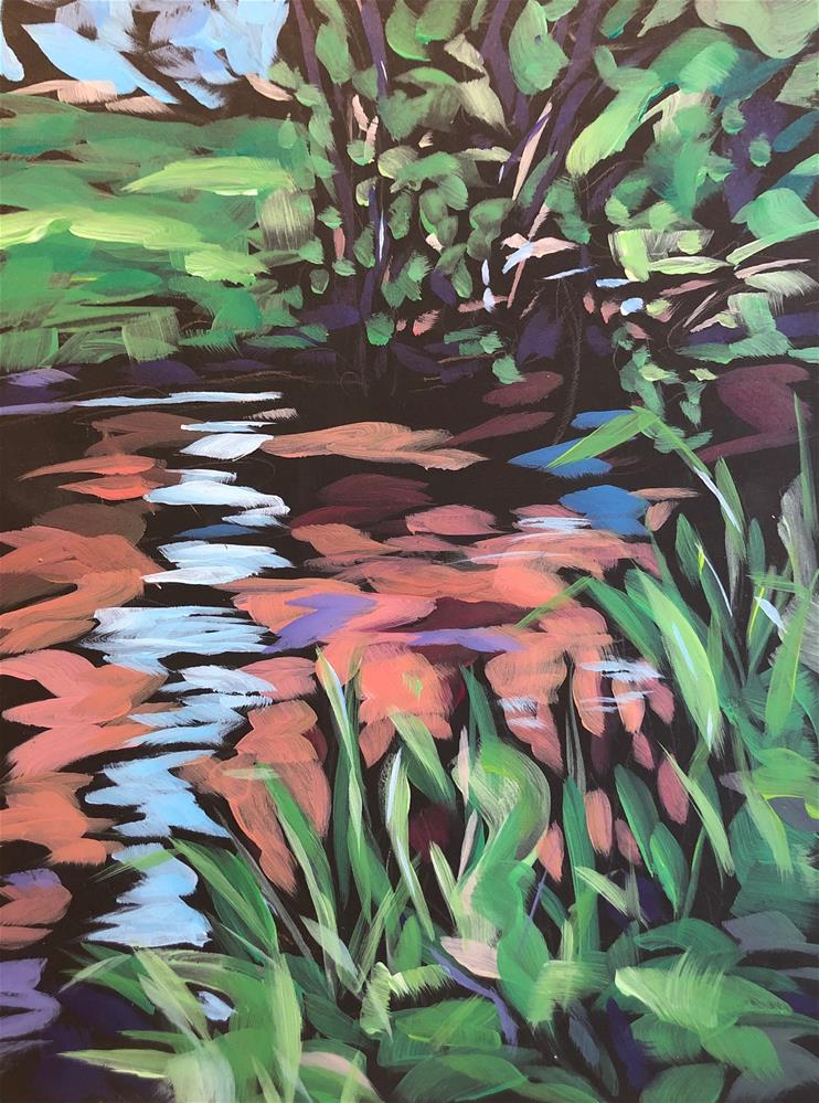 """Morning At The Creek"" original fine art by Kat Corrigan"