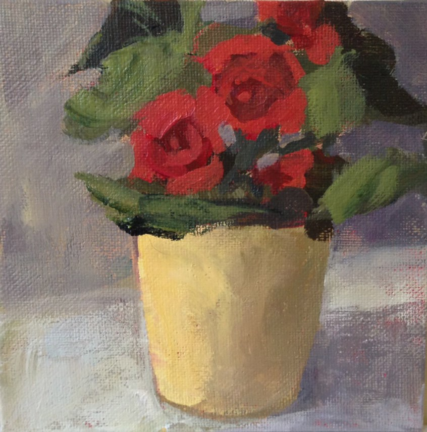 """""""Bright Begonias"""" original fine art by Shannon Bauer"""