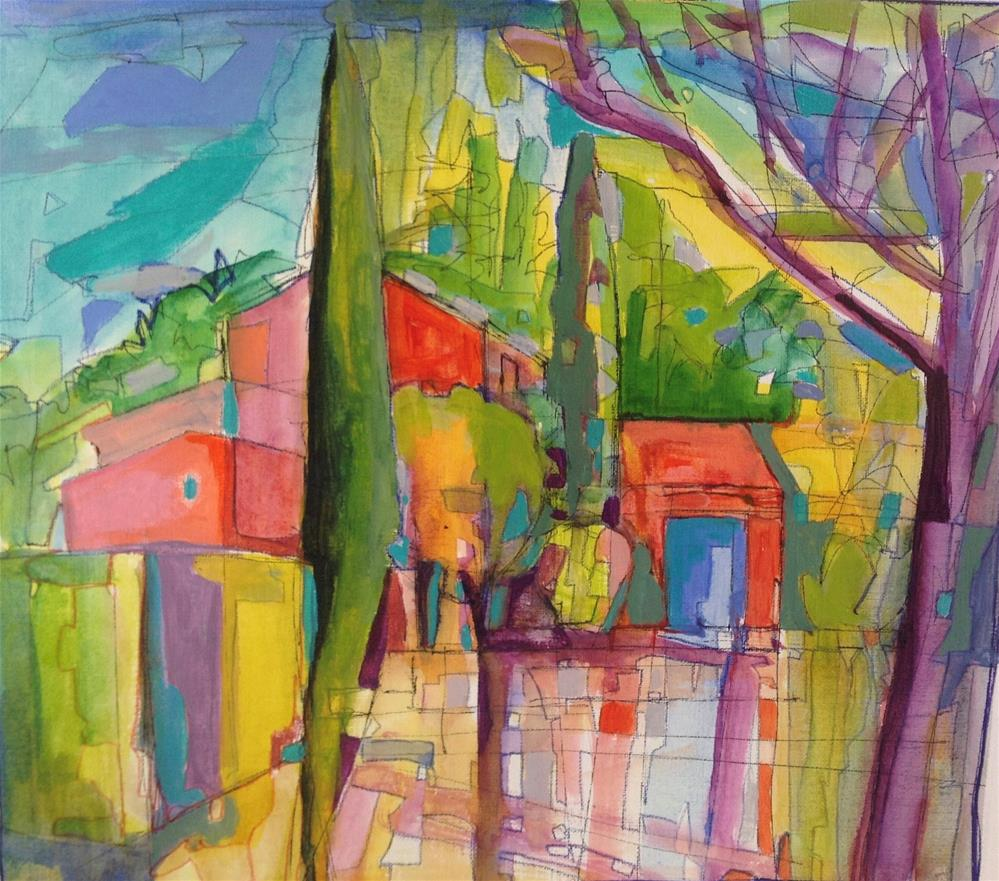 """Neighbour's House, Down the Lane, Provence"" original fine art by Patricia MacDonald"