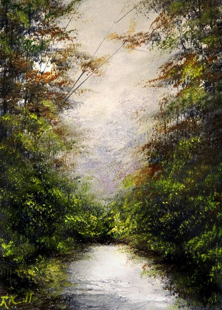"""Glowing Inlet"" original fine art by Bob Kimball"