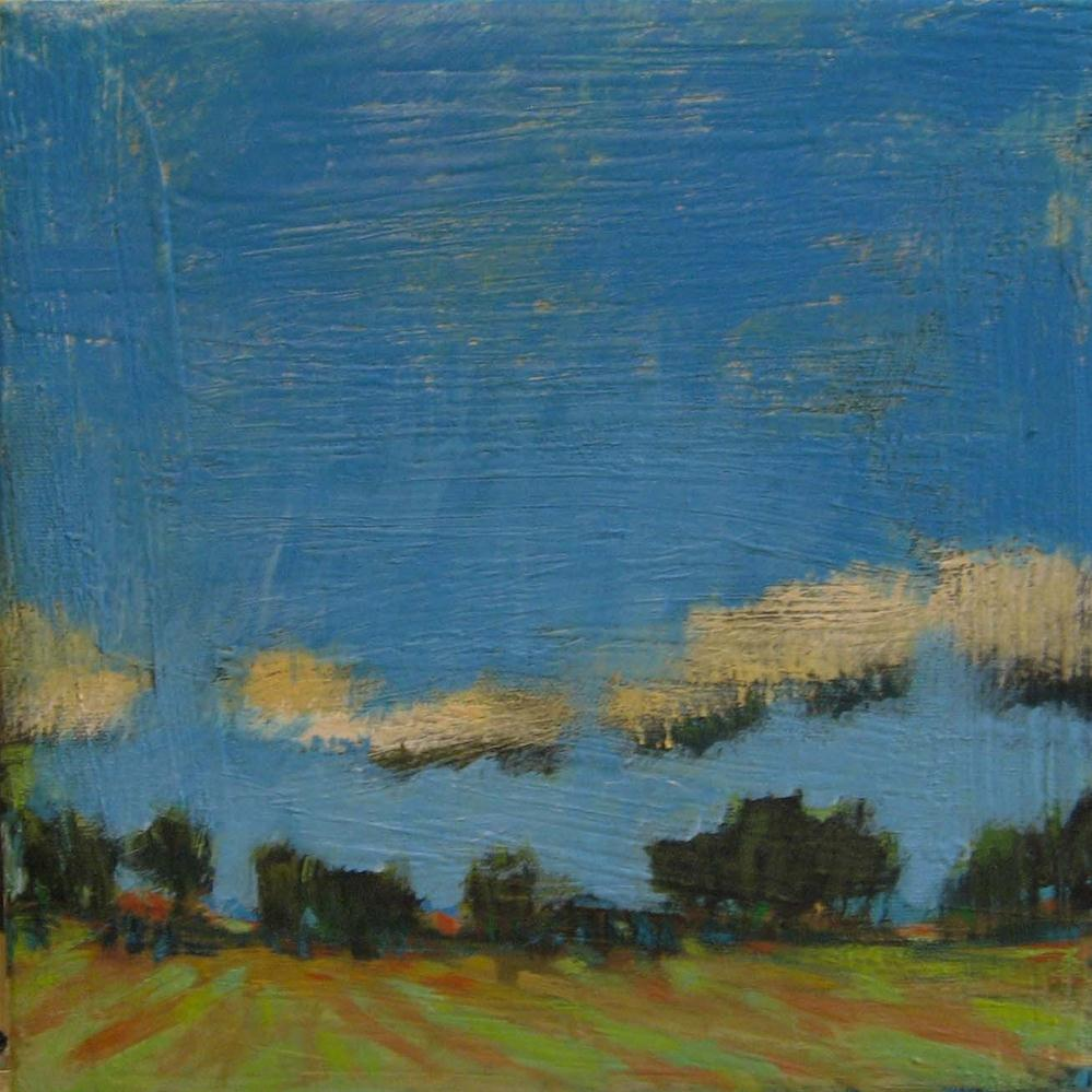 """Landscape and Clouds"" original fine art by Kristina Davidson"