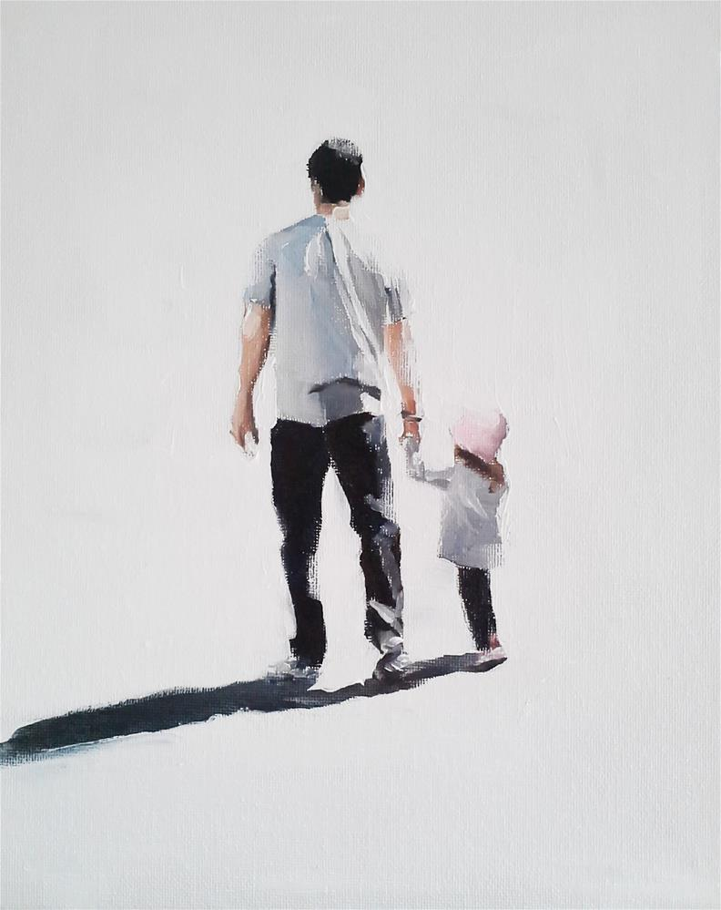 """""""Out With Dad"""" original fine art by James Coates"""
