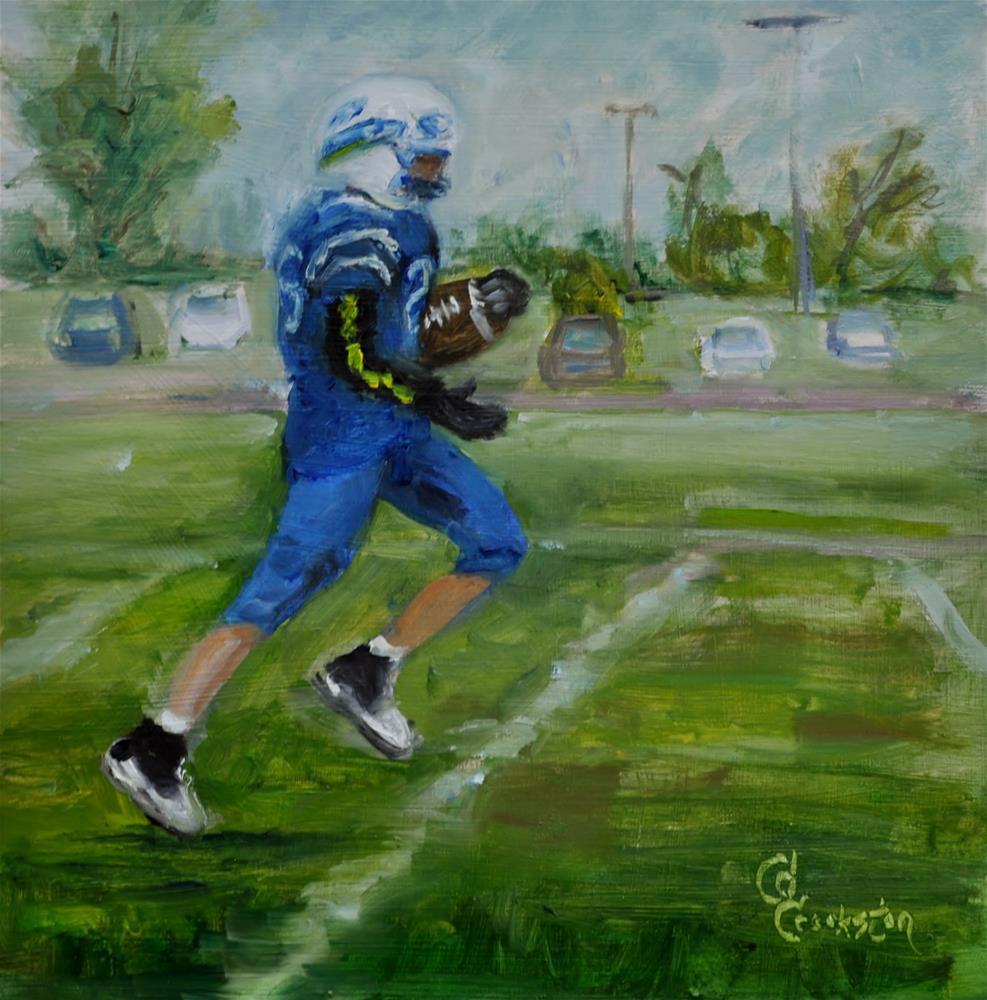 """The Touchdown"" original fine art by Catherine Crookston"