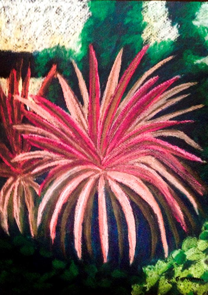 """""""Red agave"""" original fine art by Giovanni Antunez"""