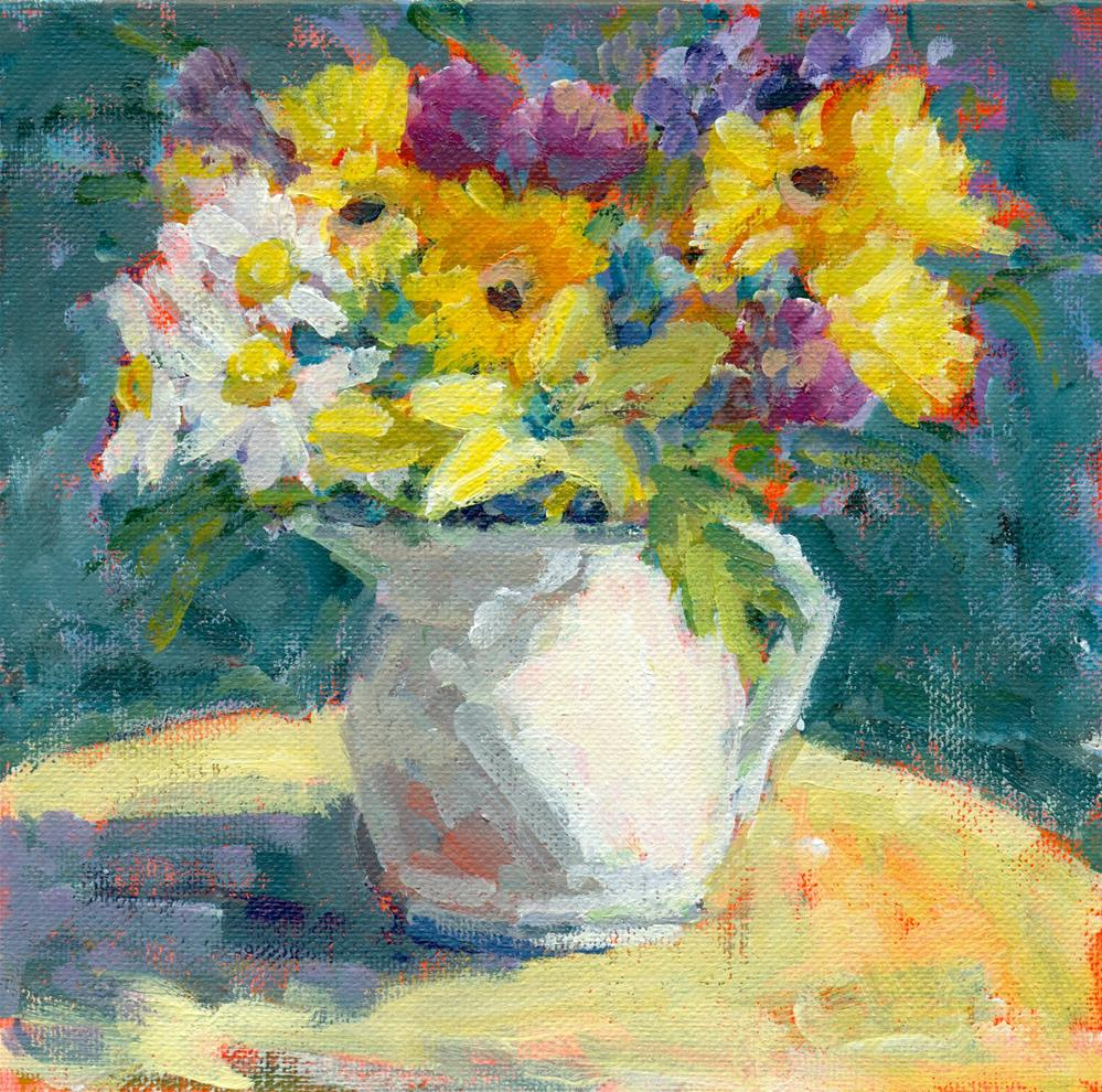 """""""daisies and lilies"""" original fine art by Shelley Garries"""
