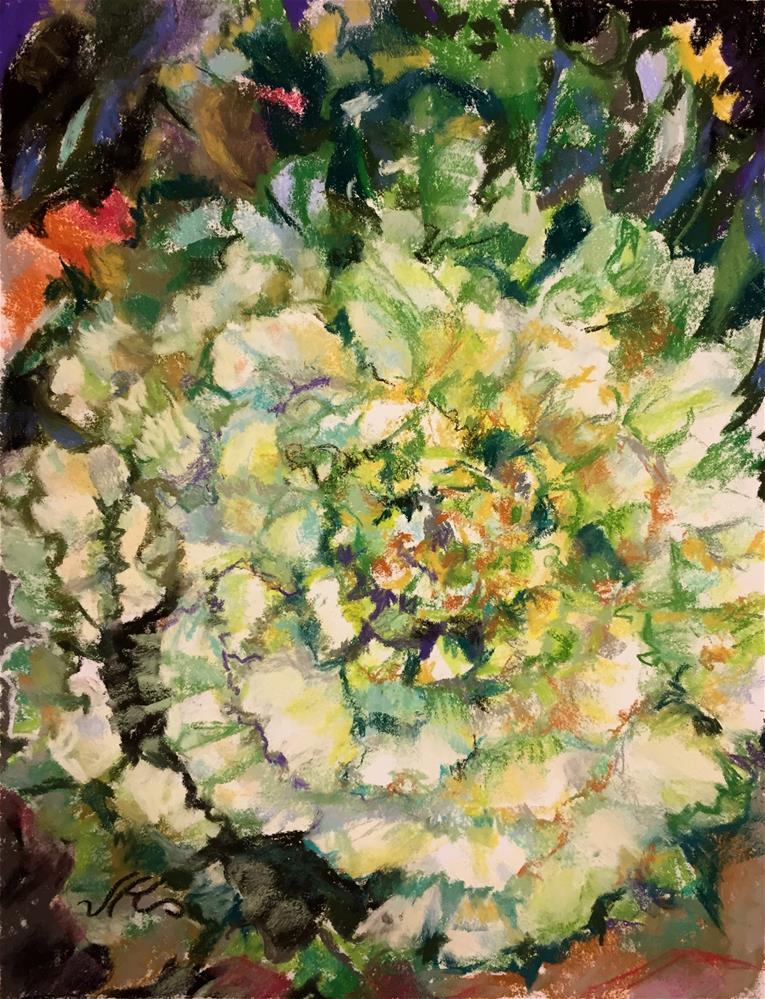 """Green and White Kale"" original fine art by Jean Krueger"