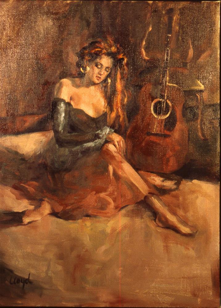 """""""Gold Earrings"""" original fine art by Diane Lloyd"""
