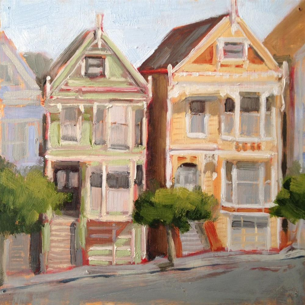 """""""Painted Ladies"""" original fine art by Deborah Newman"""