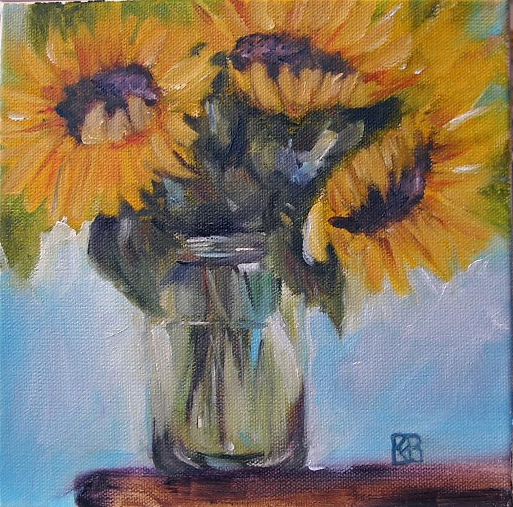 """Sunnies in a jar"" original fine art by Kathleen Barnes"