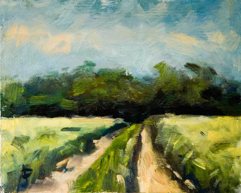 """Farm Lane"" original fine art by Andre Pallat"
