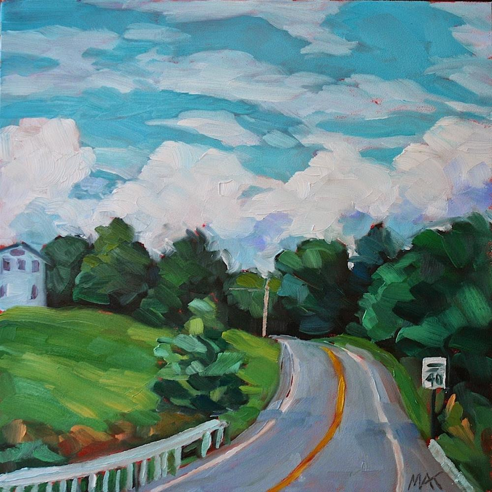 """""""Around the Bend"""" original fine art by Mary Anne Cary"""