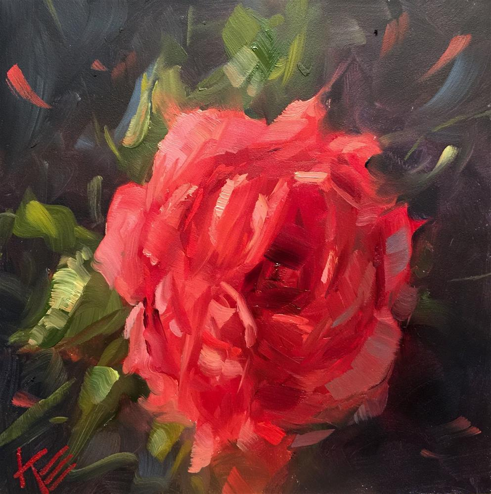 """Roses are Red"" original fine art by Krista Eaton"