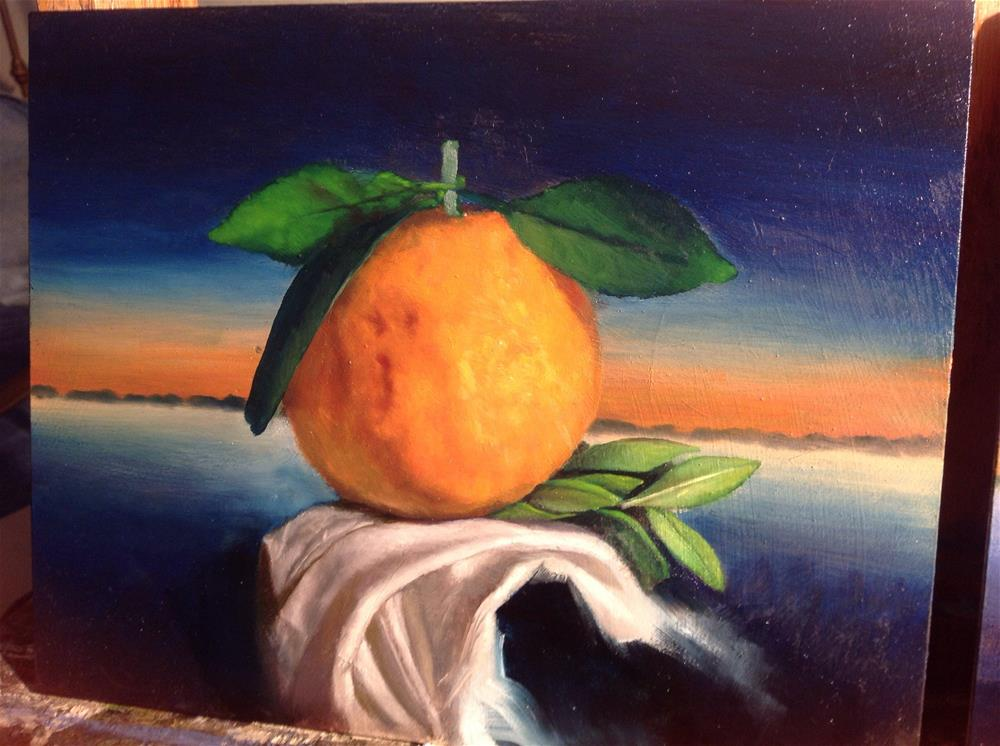 """The twilight orange"" original fine art by Paulo Jimenez"