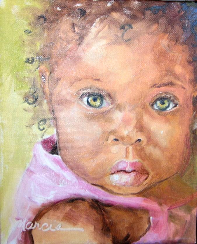 """Sweet Baby Girl"" original fine art by Marcia Hodges"