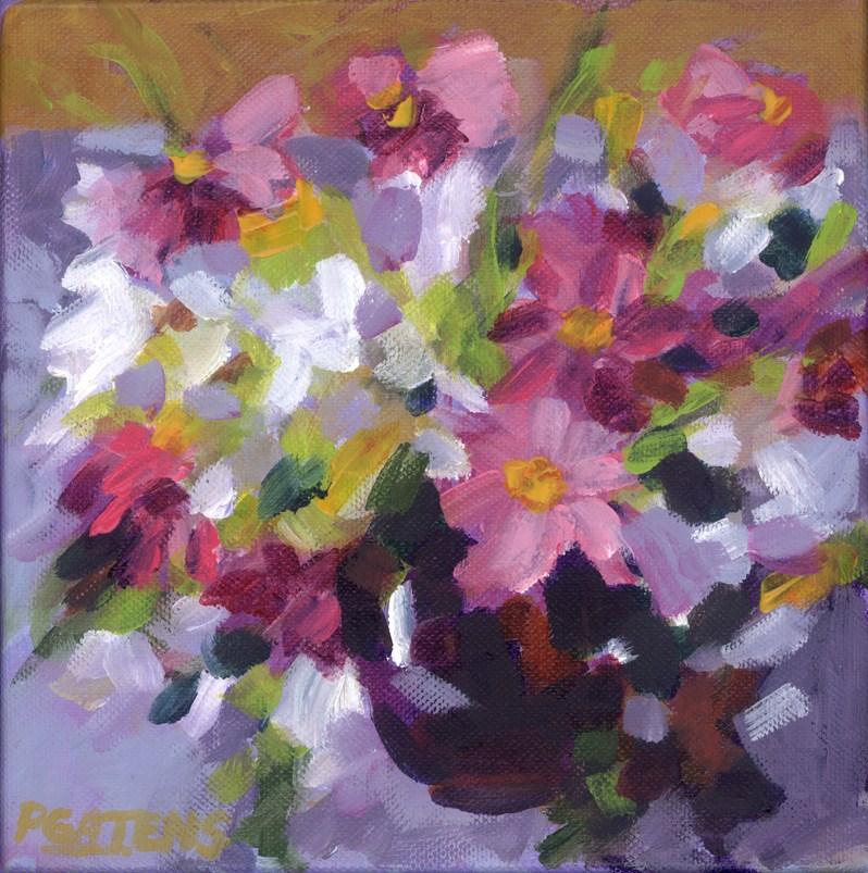 """Cosmos and Wildflowers"" original fine art by Pamela Gatens"