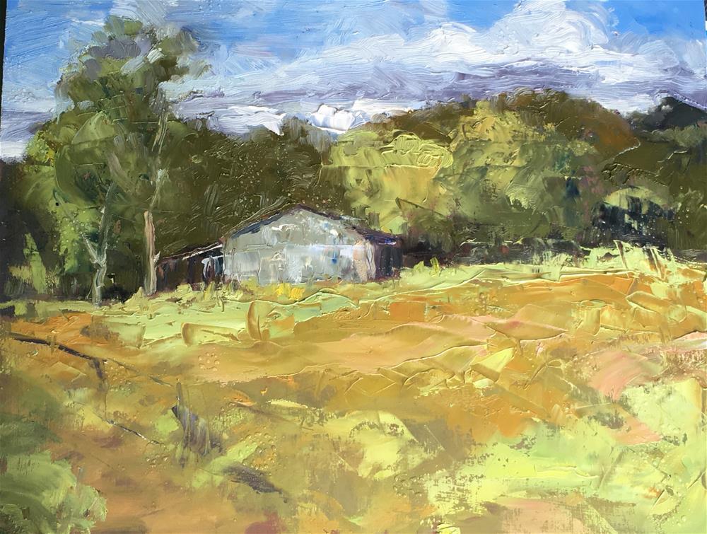 """Old Barn on Stilesboro Rd., Kennesaw, Georgia"" original fine art by Allison Doke"