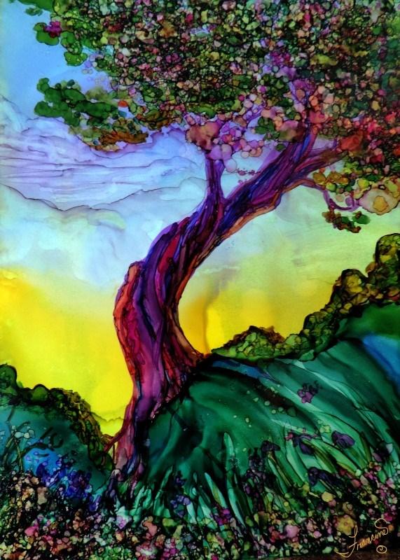 """LIfe is Good"" original fine art by Francine Dufour~Jones"