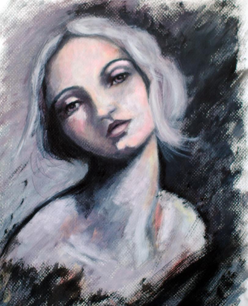 """A Kiss Upon Her Shoulder"" original fine art by Kelly Berkey"