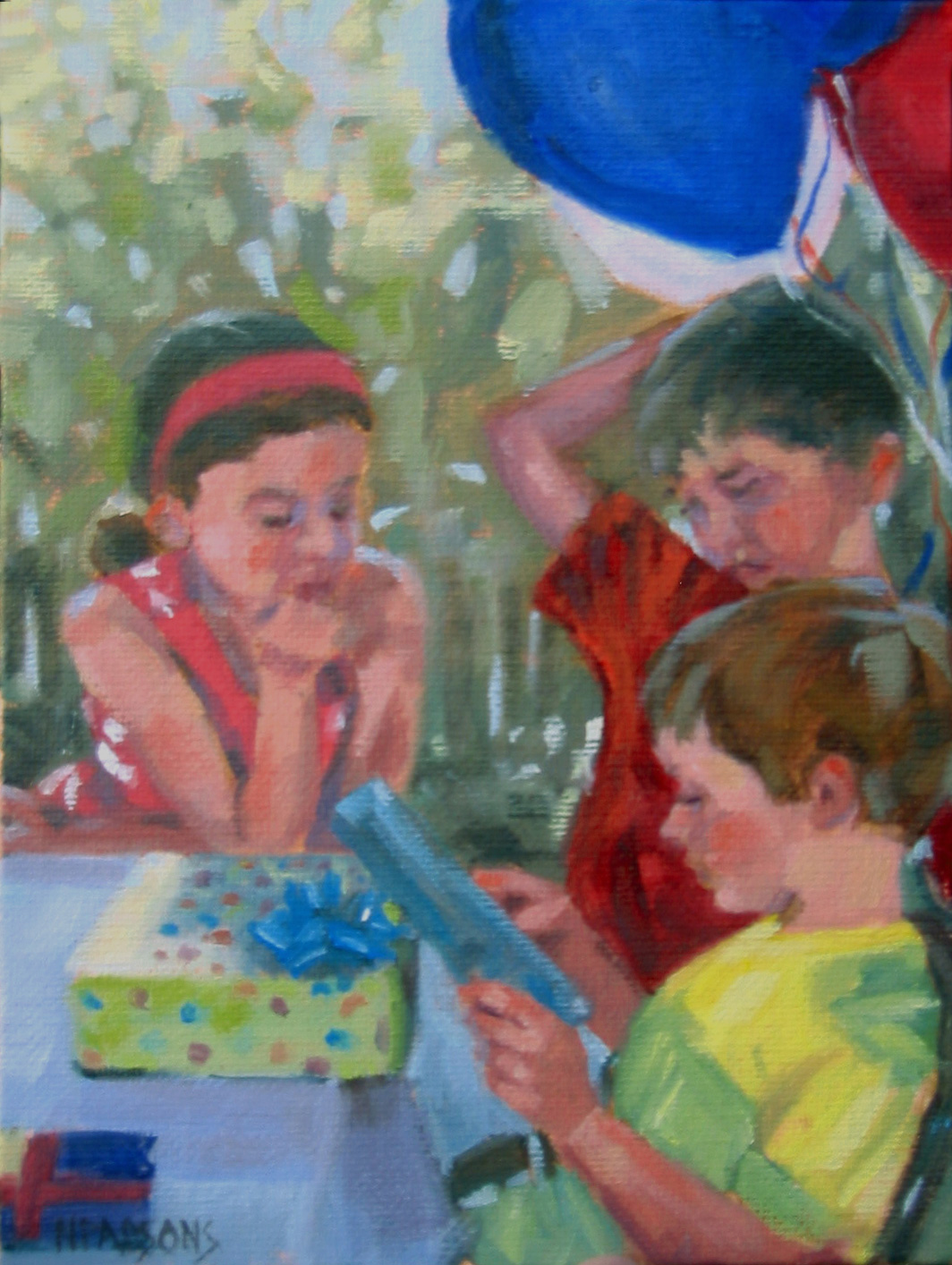 """Went to a Garden Party"" original fine art by Nancy Parsons"