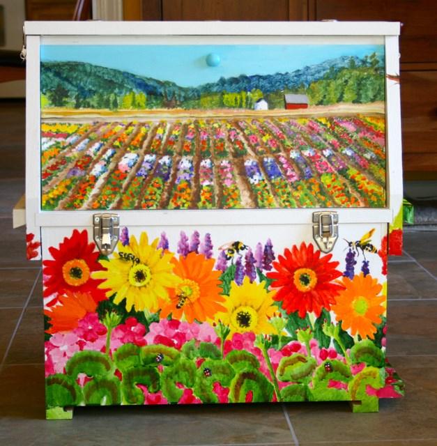 """Observation Bee box"" original fine art by JoAnne Perez Robinson"