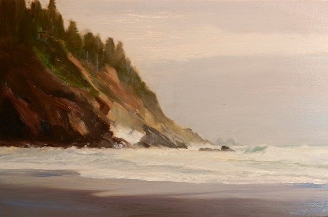 """Ocean Surf La Push, seascape oil painting by Robin Weiss"" original fine art by Robin Weiss"