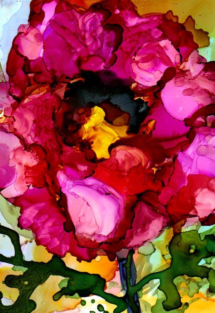 """""""Red Dahlia"""" original fine art by Kristen Dukat"""