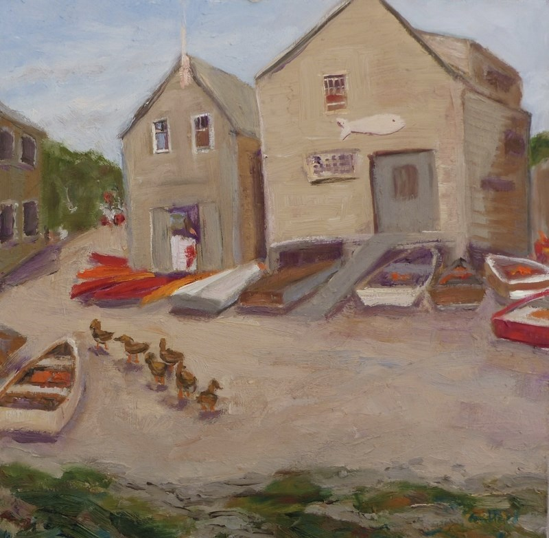 """Ducks in a Row"" original fine art by Shari Goddard Shambaugh"