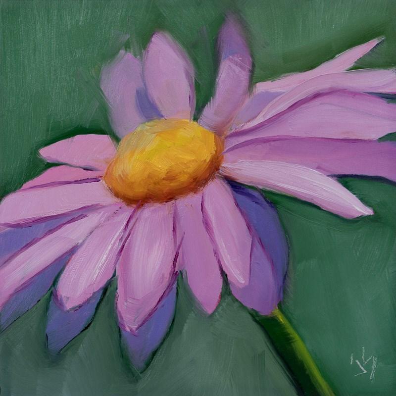 """""""Pink Daisy"""" original fine art by Johnna Schelling"""