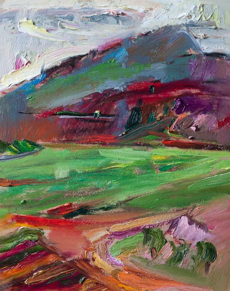 """Landscape with Mountains"" original fine art by Anna Fine Art"