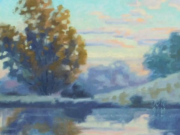 """Study for Morning reflection 2"" original fine art by Les Dorscheid"
