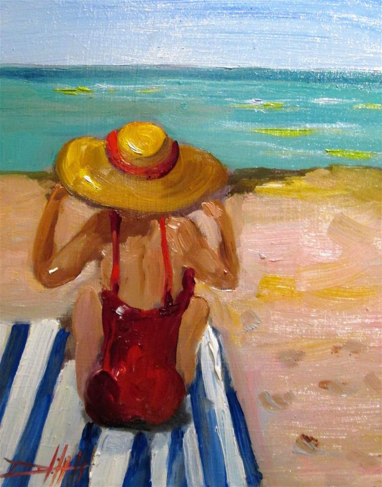 """Sunbather"" original fine art by Delilah Smith"