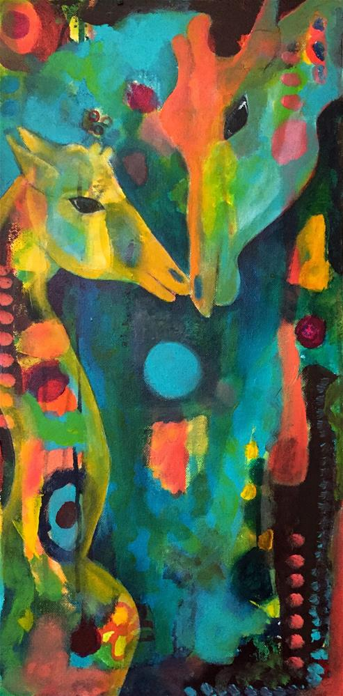"""Guiding Love"" original fine art by Silke Powers"