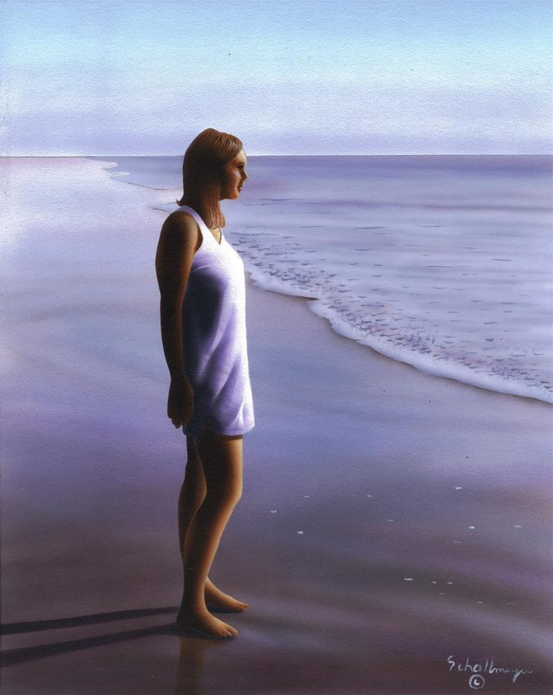 """Looking Out To Sea"" original fine art by Fred Schollmeyer"