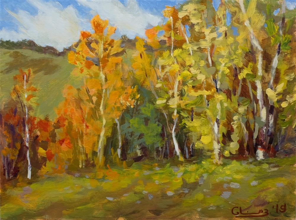 """#78 Bright Autumn Day"" original fine art by Artemi Glazkov"