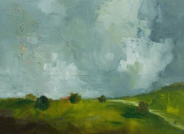"""Behind the Houses"" original fine art by Pamela Munger"