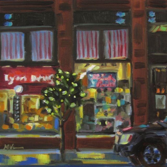 """""""LYON DRUG"""" original fine art by Mb Warner"""