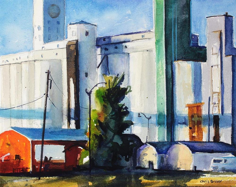 """Grain Elevators"" original fine art by Chris Breier"