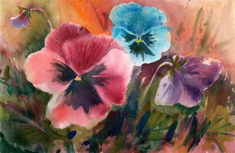 """Pansy Joy"" original fine art by Melissa Gannon"