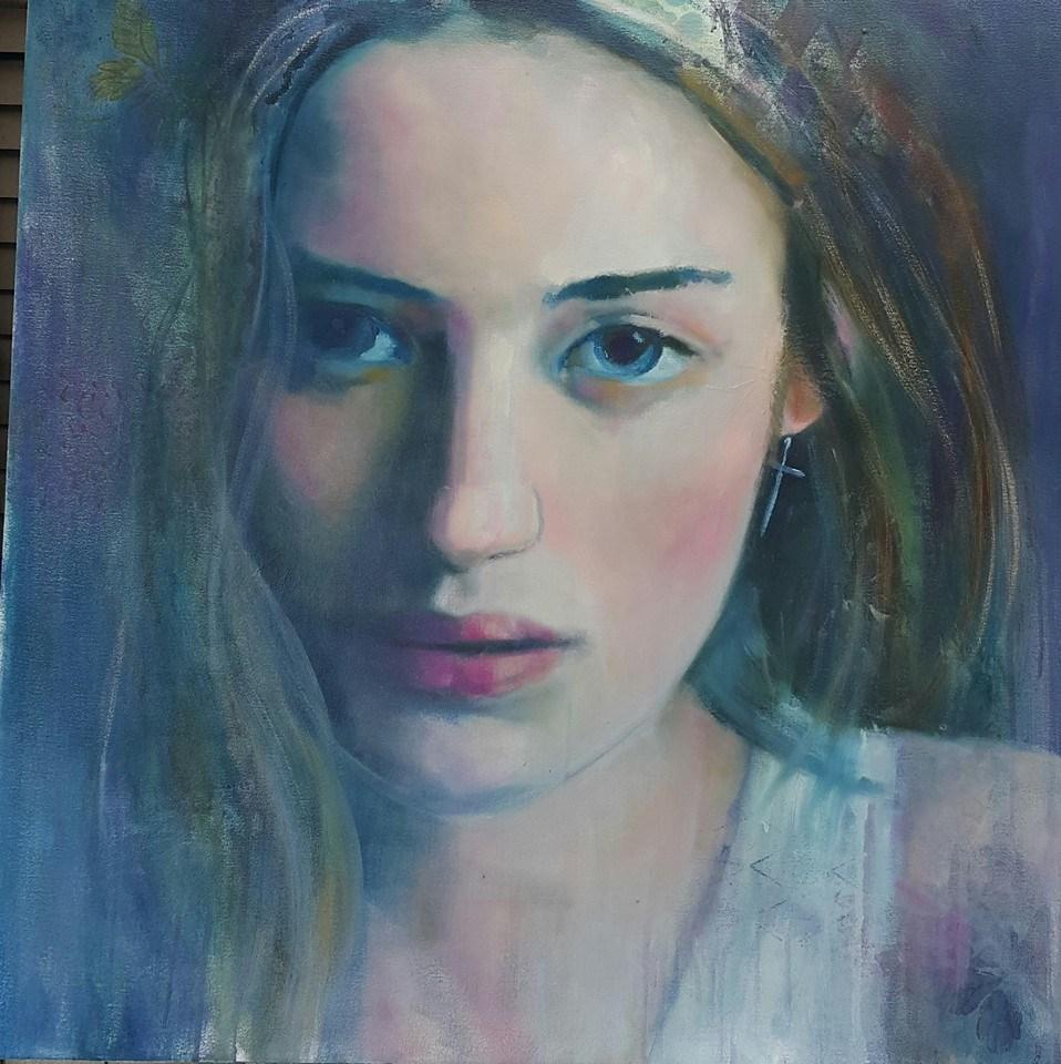 """Sweet innocence"" original fine art by Rentia Coetzee"