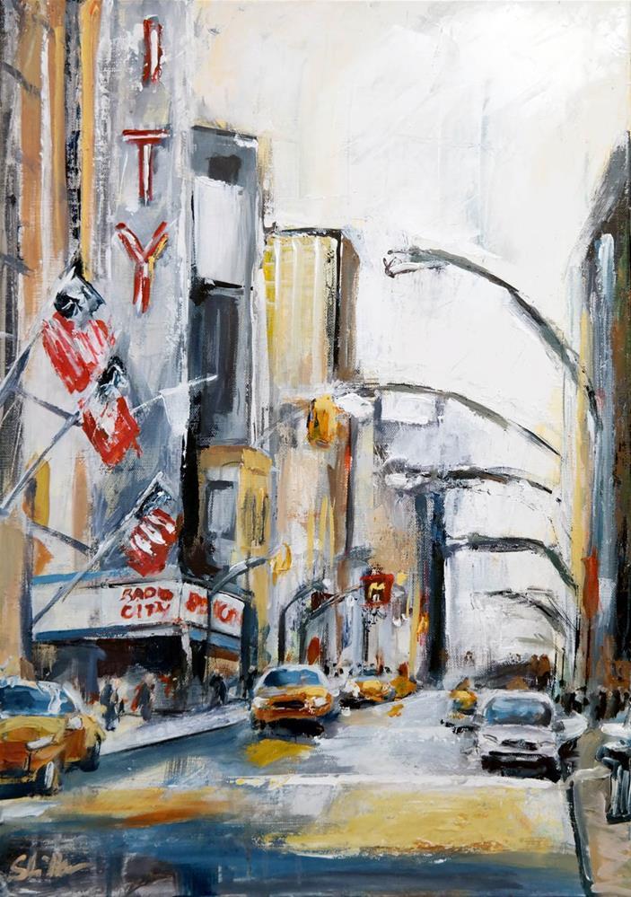 """""""1538 Radio City"""" original fine art by Dietmar Stiller"""
