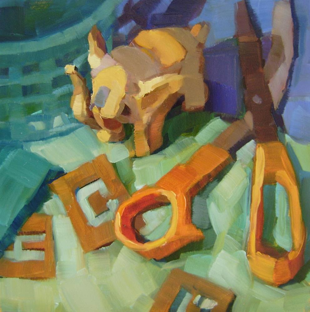 """Crafting Clutter"" original fine art by Holly Storlie"