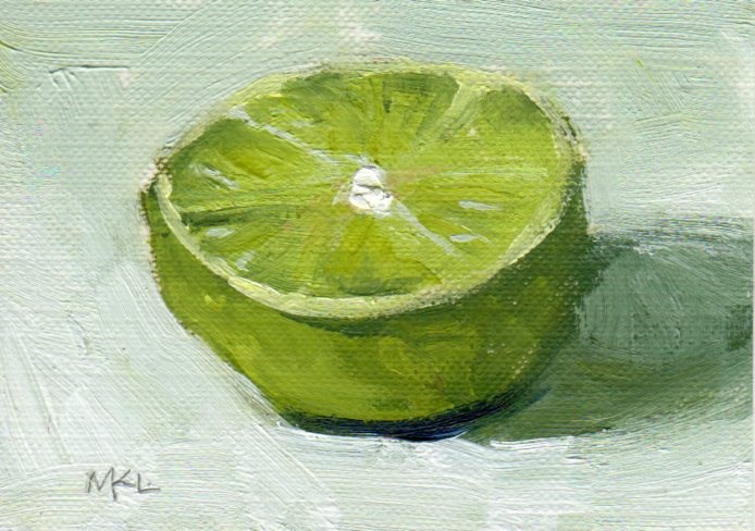 """Half of a Lime"" original fine art by Marlene Lee"