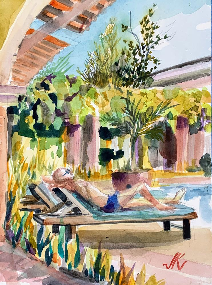 """LaSabana Hotel, San Jose, Costa Rica"" original fine art by Jean Krueger"