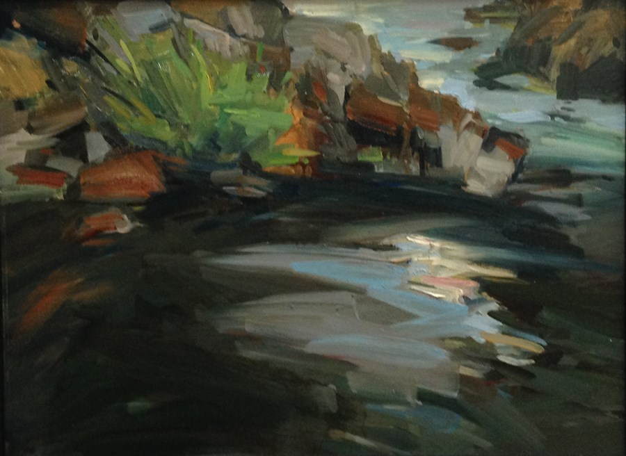 """North Umpqua Water and Light"" original fine art by Patti McNutt"